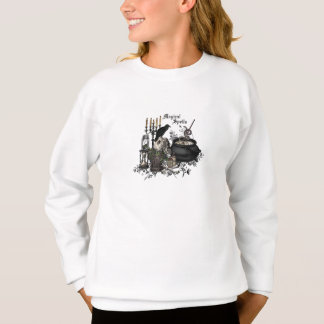 Modern vintage Halloween skull Sweatshirt