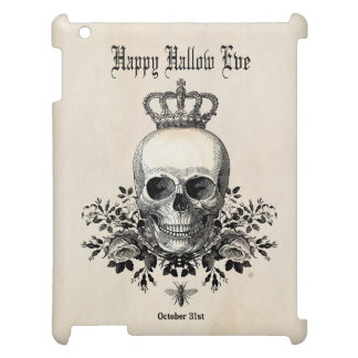 Modern Vintage Halloween skull with crown Case For The iPad 2 3 4