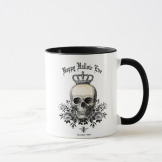 Modern Vintage Halloween skull with crown Mug