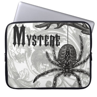 modern vintage halloween tarantula laptop computer sleeves