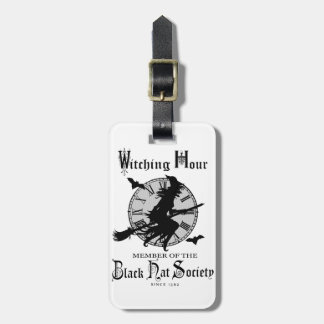 Modern Vintage Halloween witch Luggage Tag