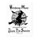 Modern Vintage Halloween witch Postcard