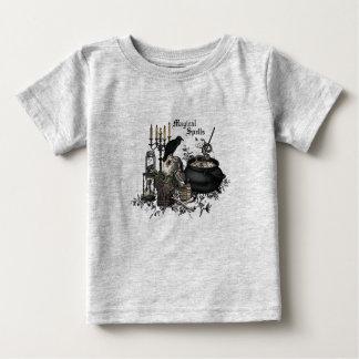 Modern vintage Halloween WITCHES BREW Baby T-Shirt