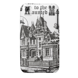 modern vintage haunted mansion iPhone3 case