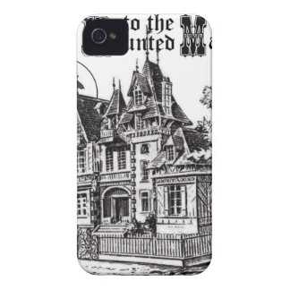modern vintage haunted mansion iPhone 4 Case-Mate cases