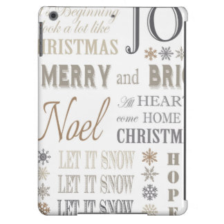 modern vintage holiday phrases iPad air covers