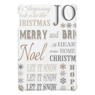 modern vintage holiday phrases iPad mini covers