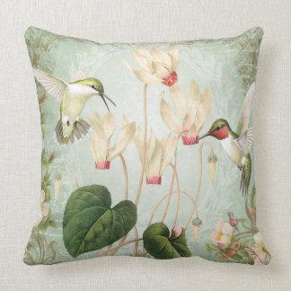 Modern Vintage Hummingbird pillow