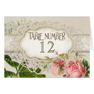 Modern Vintage Lace Tea Stained Hydrangea n Roses Note Card