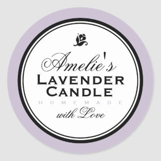 MODERN VINTAGE LAVENDER | PERSONALIZED STICKER