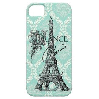 Modern Vintage Paris Eiffel Tower iphone 5 case