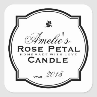 MODERN VINTAGE | PERSONALIZED SOAP & CANDLE SQUARE STICKER