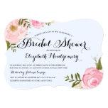 Modern Vintage Pink Floral Bridal Shower