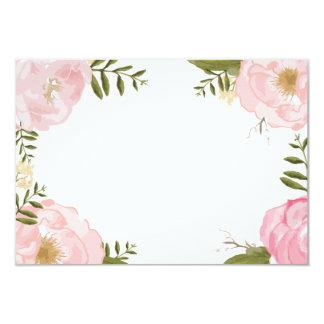 Modern Vintage Pink Floral Wedding Blank Card