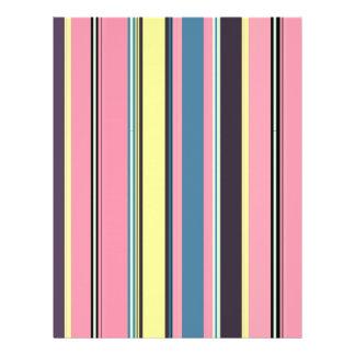 "Modern vintage stripes pattern 8.5"" x 11"" flyer"