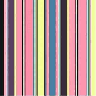 Modern vintage stripes pattern standing photo sculpture