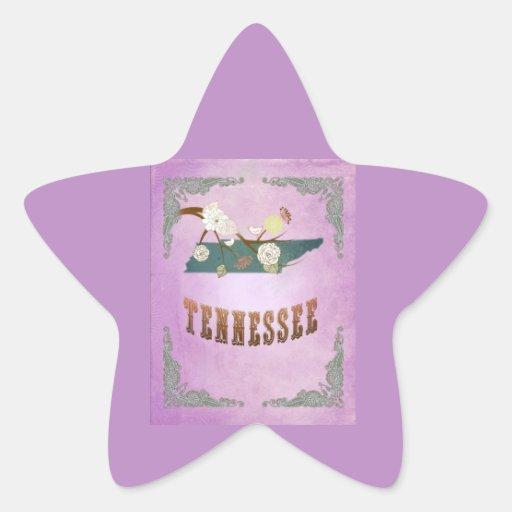 Modern Vintage Tennessee State Map- Grape Purple Sticker