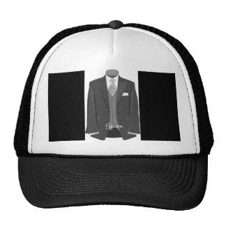 Modern Vintage Wedding Tuxedo Groom Hat Cap