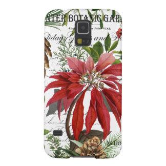Modern vintage winter garden floral galaxy s5 case