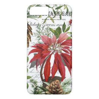 Modern vintage winter garden floral iPhone 8 plus/7 plus case