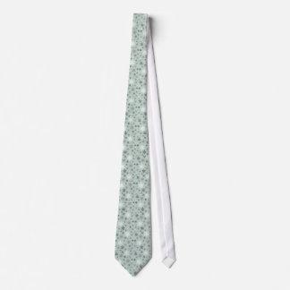 modern vintage winter snowflakes tie