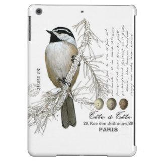 modern vintage winter woodland chickadee iPad air case