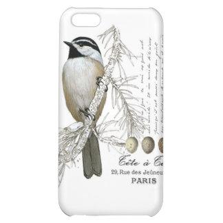 modern vintage winter woodland chickadee iPhone 5C cover