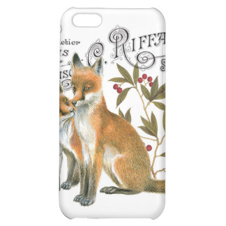 modern vintage woodland fox cover for iPhone 5C