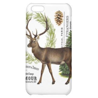 modern vintage woodland winter deer iPhone 5C cases