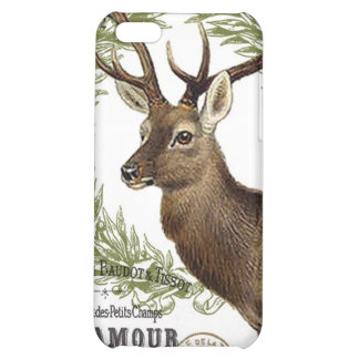 modern vintage woodland winter deer iPhone 5C cover
