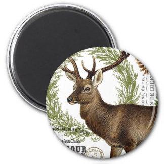 modern vintage woodland winter deer fridge magnets