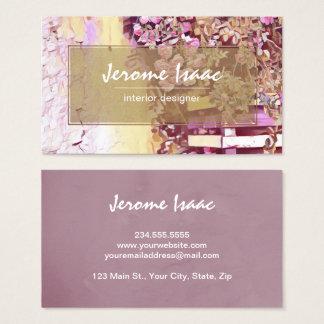 Modern Violet Floral Watercolor Business Card