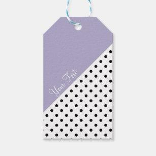 Modern violet geometric retro polka dots pattern gift tags