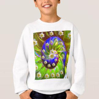 modern VIOLET GREEN GARDEN  SPIRAL &  DAFFODILS Sweatshirt