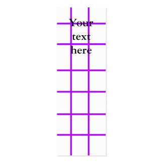 Modern violet grid pattern business card