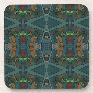 Modern Warmed Toned Masculine Pattern Coaster