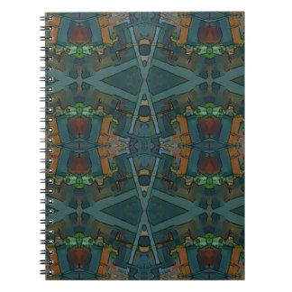 Modern Warmed Toned Masculine Pattern Spiral Notebook