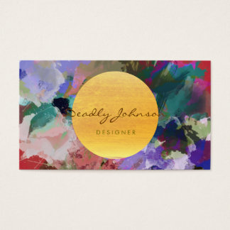 Modern Watercolor Abstract Elegant Cool Business Card