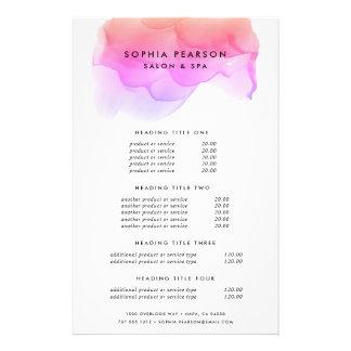 Modern Watercolor Blot | Pricing & Services 14 Cm X 21.5 Cm Flyer