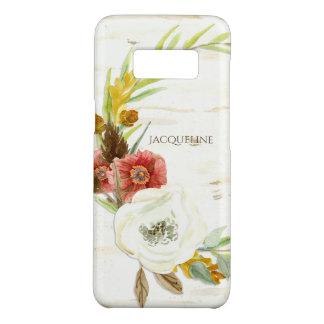 Modern Watercolor BOHO Bohemian Wreath Floral Wood Case-Mate Samsung Galaxy S8 Case