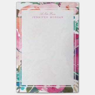 Modern Watercolor Botanical Garden Flowers Post-it Notes