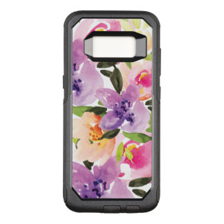 Modern Watercolor Colorful Boho Flowers OtterBox Commuter Samsung Galaxy S8 Case