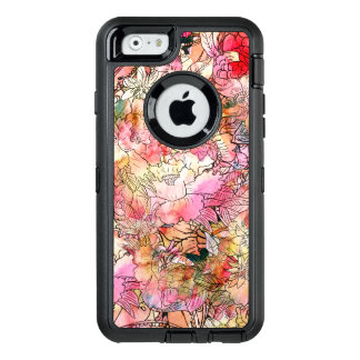 Modern watercolor floral pattern illustration OtterBox iPhone 6/6s case