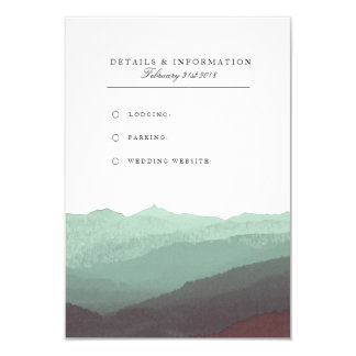 Modern Watercolor Mountain Information Card