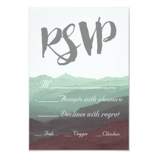 Modern Watercolor Mountain RSVP Card