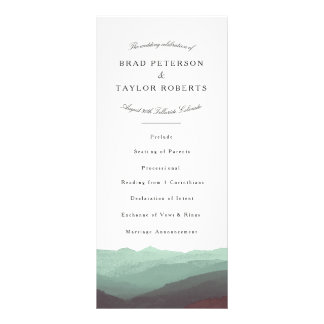 Modern Watercolor Mountains Rackcard Personalized Rack Card