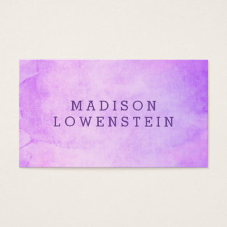 Modern Watercolor Purple Whimsical