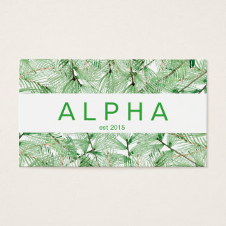 Modern Watercolor Spruce Branches Business Card