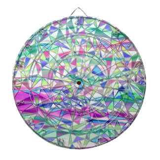 Modern Watercolor Triangle Pattern Dart Board