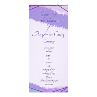 Modern Watercolor  wedding ceremony  and party Rack Card
